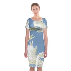 Nature Pattern Classic Short Sleeve Midi Dress by dflcprintsclothing