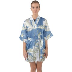 Nature Pattern Quarter Sleeve Kimono Robe by dflcprintsclothing