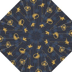 Christmas Angelsstar Yellow Blue Cool Folding Umbrellas by Alisyart