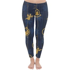 Christmas Angelsstar Yellow Blue Cool Classic Winter Leggings