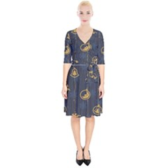 Christmas Angelsstar Yellow Blue Cool Wrap Up Cocktail Dress