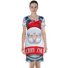 Christmas Santa Claus Xmas Short Sleeve Nightdress