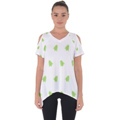 Christmas Tree Green Cut Out Side Drop Tee