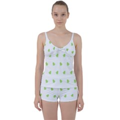 Christmas Tree Green Tie Front Two Piece Tankini by Alisyart
