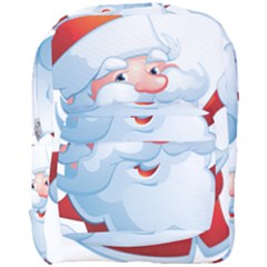 Christmas Santa Claus Snow Red White Full Print Backpack by Alisyart