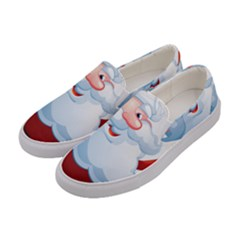 Christmas Santa Claus Snow Red White Women s Canvas Slip Ons by Alisyart