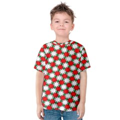 Christmas Star Red Green Kids  Cotton Tee