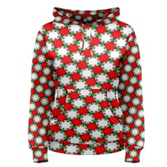 Christmas Star Red Green Women s Pullover Hoodie
