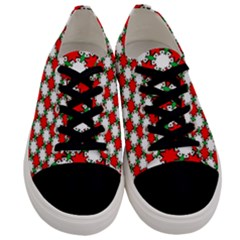 Christmas Star Red Green Men s Low Top Canvas Sneakers