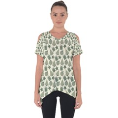 Christmas Pattern Gif Star Tree Happy Cut Out Side Drop Tee