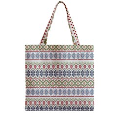 Christmas Star Flower Red Blue Grocery Tote Bag by Alisyart