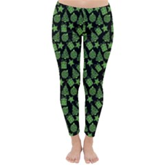 Christmas Pattern Gif Star Tree Happy Green Classic Winter Leggings