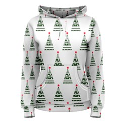 Christmas Tree Green Star Red Women s Pullover Hoodie