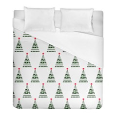 Christmas Tree Green Star Red Duvet Cover (full/ Double Size) by Alisyart