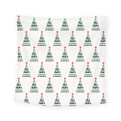 Christmas Tree Green Star Red Square Tapestry (small)