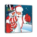 Hello Merry Christmas Santa Claus Snow Blue Sky Mini Canvas 6  x 6  View1