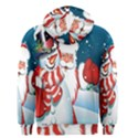 Hello Merry Christmas Santa Claus Snow Blue Sky Men s Zipper Hoodie View2