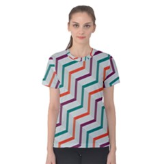 Line Color Rainbow Women s Cotton Tee by Alisyart