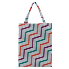Line Color Rainbow Classic Tote Bag by Alisyart