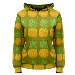 Fruite Pineapple Yellow Green Orange Women s Pullover Hoodie