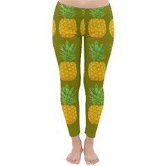 Fruite Pineapple Yellow Green Orange Classic Winter Leggings
