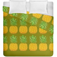 Fruite Pineapple Yellow Green Orange Duvet Cover Double Side (king Size)