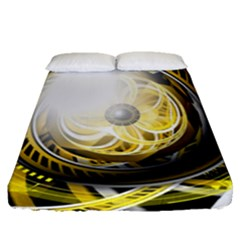 Incredible Eye Of A Yellow Construction Robot Fitted Sheet (queen Size) by jayaprime