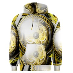 Incredible Eye Of A Yellow Construction Robot Men s Pullover Hoodie by jayaprime