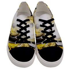 Incredible Eye Of A Yellow Construction Robot Men s Low Top Canvas Sneakers