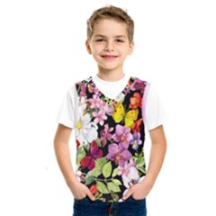 Beautiful,floral,hand painted, flowers,black,background,modern,trendy,girly,retro Kids  SportsWear