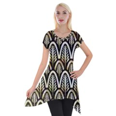 Art Deco Short Sleeve Side Drop Tunic by 8fugoso