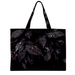 Black And White Leaves Photo Medium Tote Bag by dflcprintsclothing