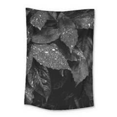 Black And White Leaves Photo Small Tapestry