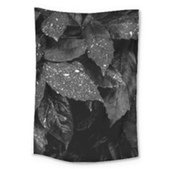 Black And White Leaves Photo Large Tapestry by dflcprintsclothing