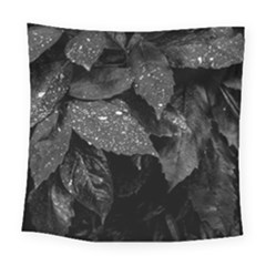 Black And White Leaves Photo Square Tapestry (large) by dflcprintsclothing