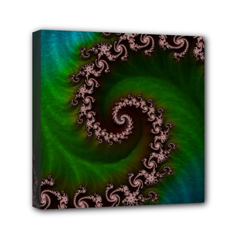 Benthic Saltlife Fractal Tribute For Reef Divers Mini Canvas 6  X 6  by jayaprime