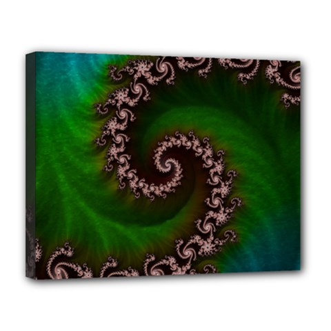 Benthic Saltlife Fractal Tribute For Reef Divers Canvas 14  X 11  by jayaprime