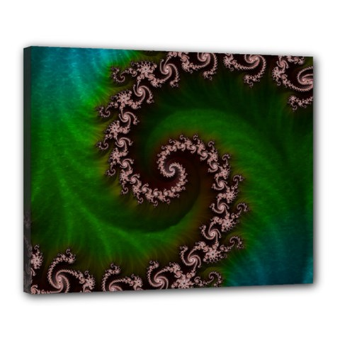 Benthic Saltlife Fractal Tribute For Reef Divers Canvas 20  X 16  by jayaprime