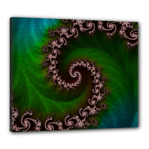 Benthic Saltlife Fractal Tribute For Reef Divers Canvas 24  X 20  by jayaprime
