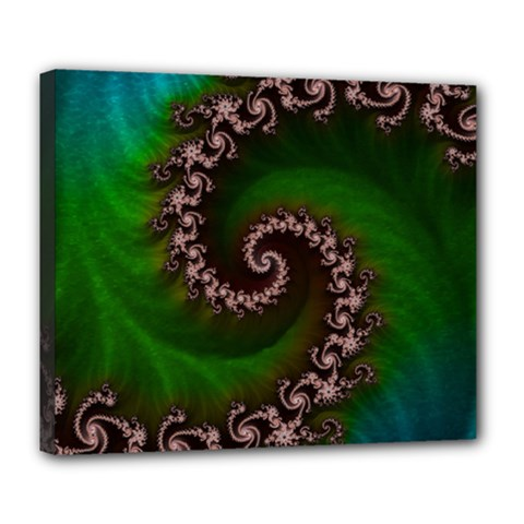 Benthic Saltlife Fractal Tribute For Reef Divers Deluxe Canvas 24  X 20   by jayaprime