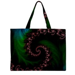 Benthic Saltlife Fractal Tribute For Reef Divers Mini Tote Bag by jayaprime