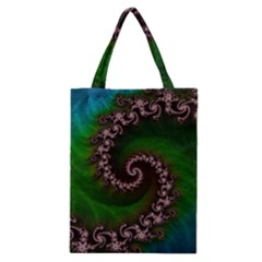Benthic Saltlife Fractal Tribute For Reef Divers Classic Tote Bag by jayaprime
