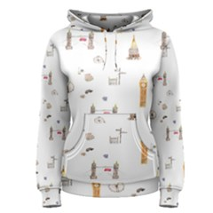Graphics Tower City Town Women s Pullover Hoodie