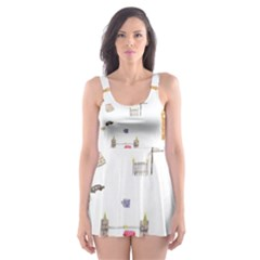 Graphics Tower City Town Skater Dress Swimsuit by Alisyart