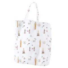 Graphics Tower City Town Giant Grocery Zipper Tote