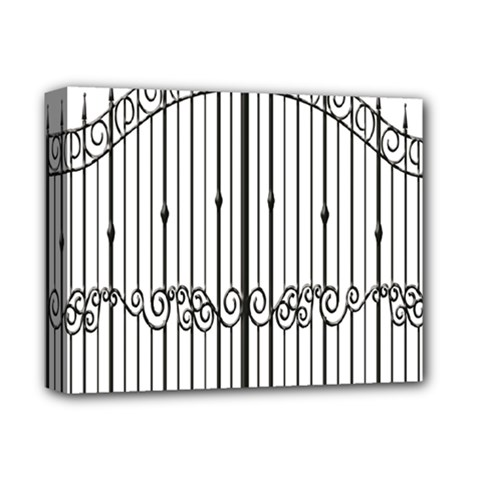 Inspirative Iron Gate Fence Deluxe Canvas 14  X 11  by Alisyart
