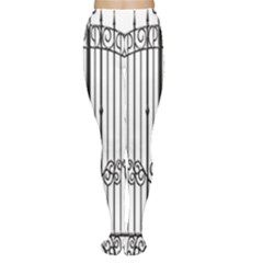 Inspirative Iron Gate Fence Women s Tights