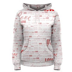 Love Heart Valentine Pink Red Romantic Women s Pullover Hoodie