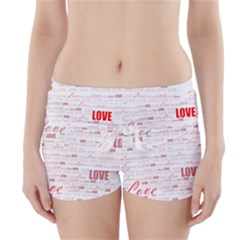 Love Heart Valentine Pink Red Romantic Boyleg Bikini Wrap Bottoms