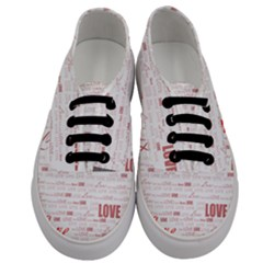 Love Heart Valentine Pink Red Romantic Men s Classic Low Top Sneakers